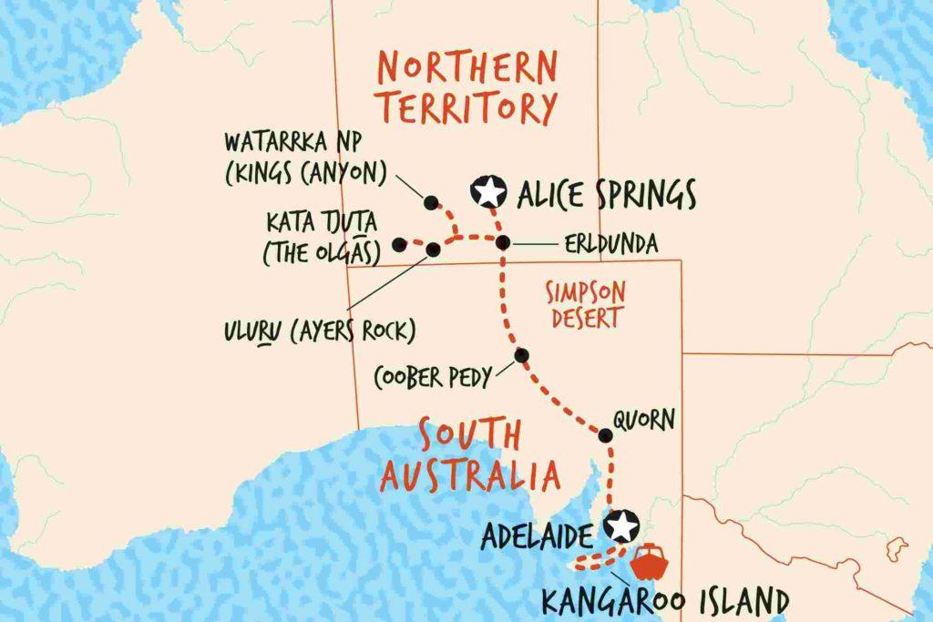 Australian route planning