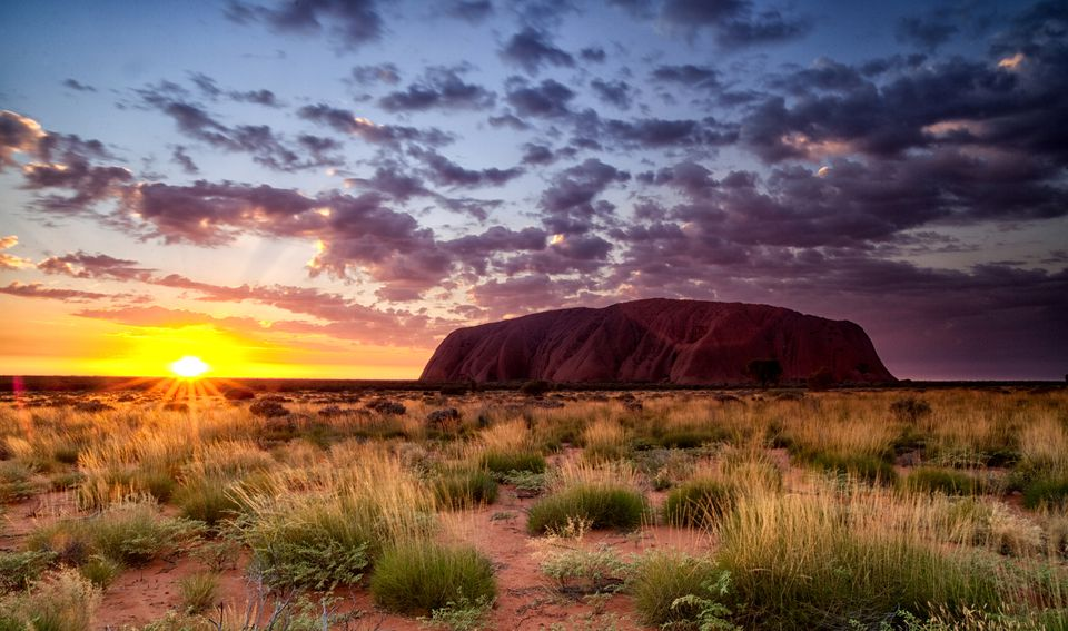 hiking do's and don'ts - Uluru at Sunset
