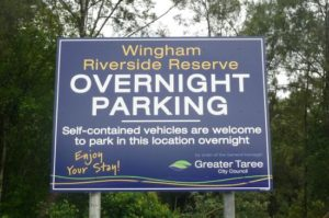 Wingham Foreshore Recreation Reserve free camping nsw